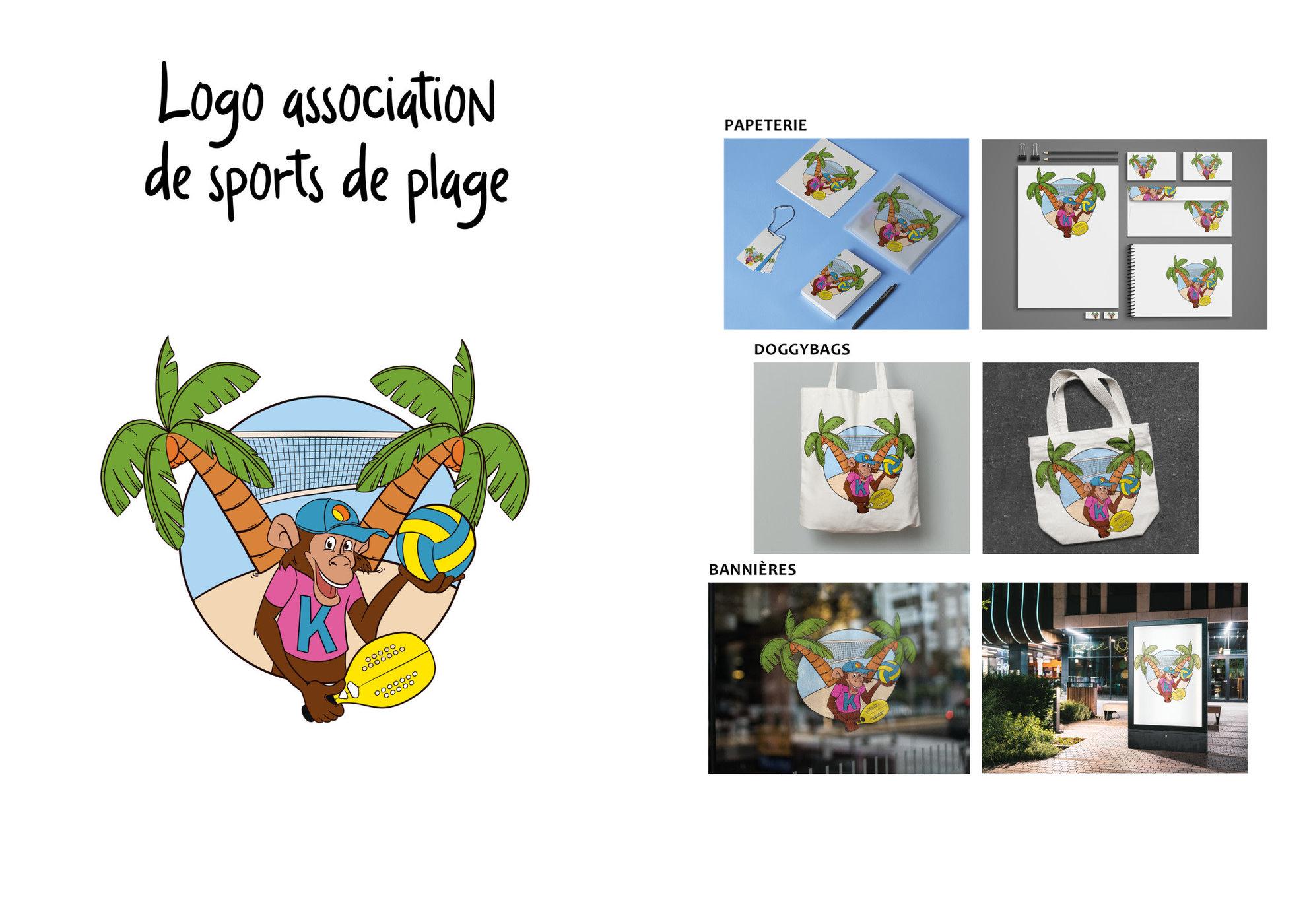 Création logo pour une association de sports de plage