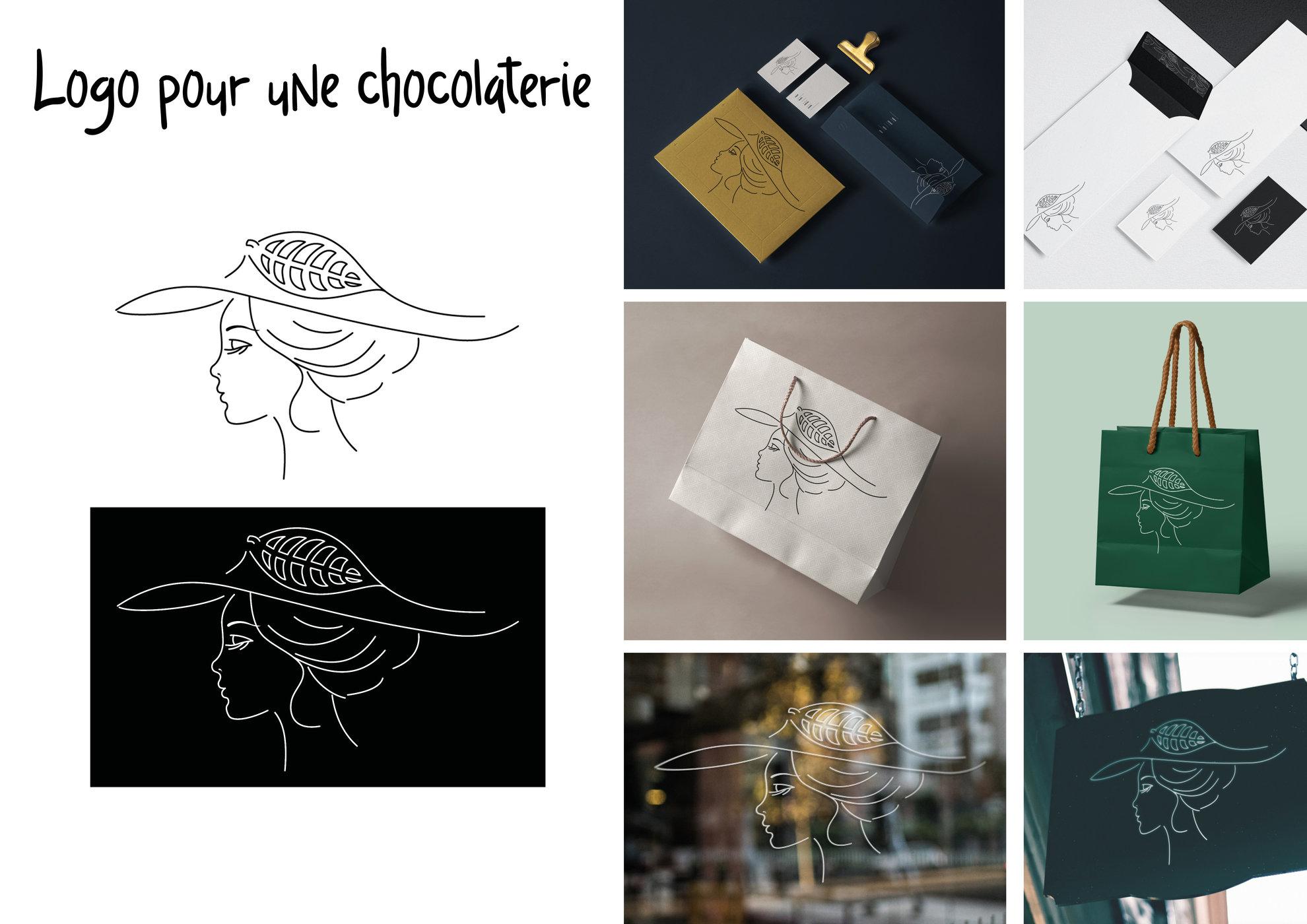 Création d'un logo pour une chocolatière