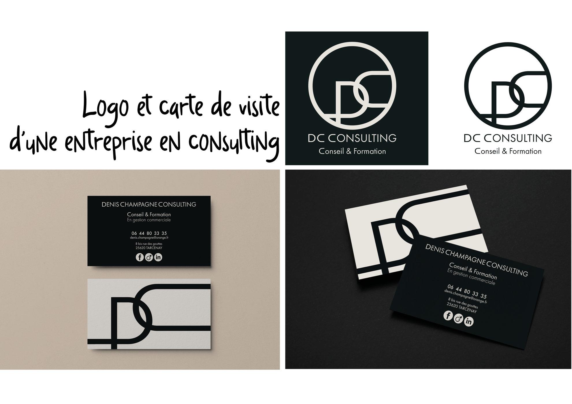 Création d'un logo et d'une carte de visite pour une entreprise de formation