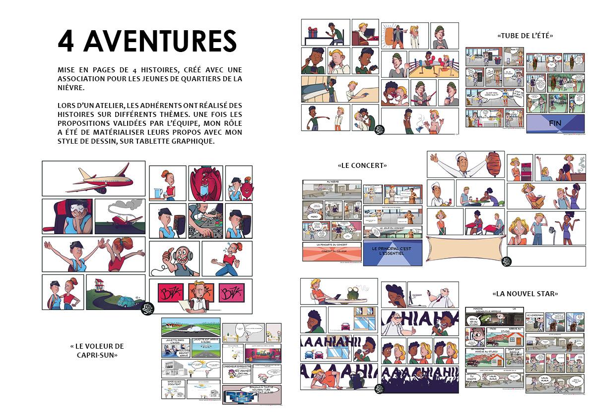 Mise en page de 4 aventures