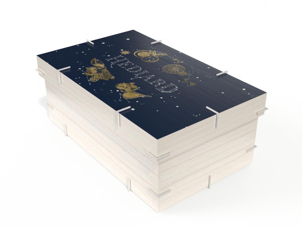 Prévisualisation 3D d'un packaging Hédiard collection Noel 2019