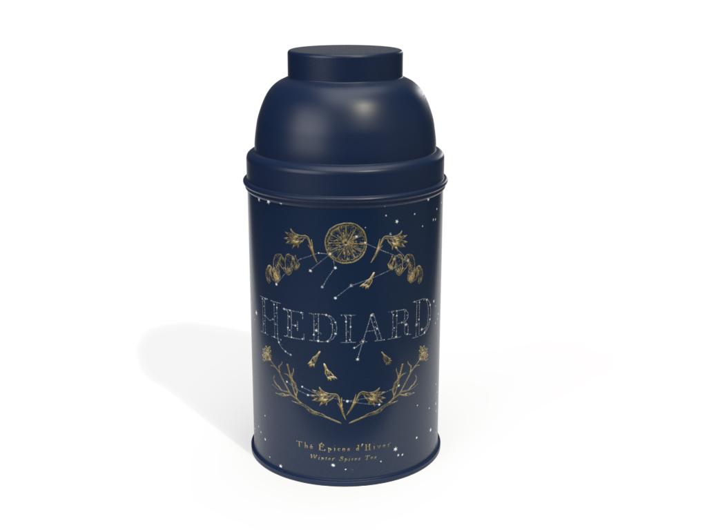 Prévisualisation 3D d'un packaging Tine Hédiard collection Noel 2019