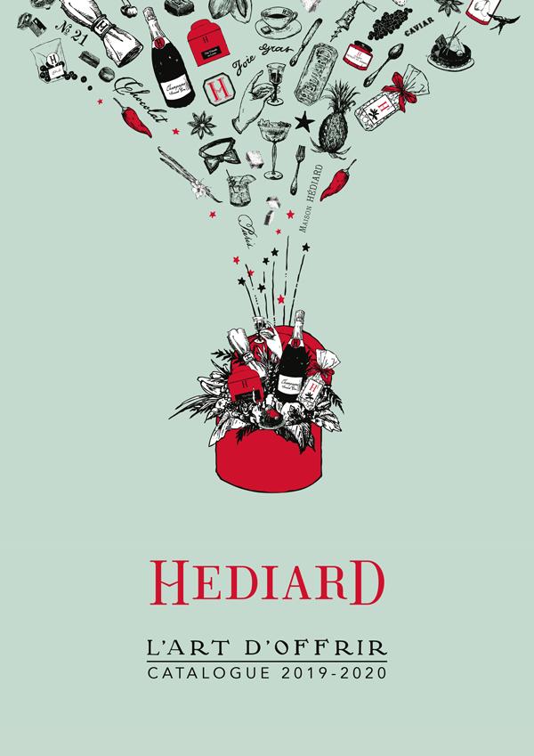 Réalisation de la brochure Hédiard 19-20 en collaboration avec l'illustratrice Gail Gosschalk
