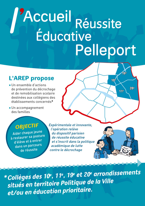 Realisation d'une plaquette 4 pages + marque page pour l'Accueil Pelleport