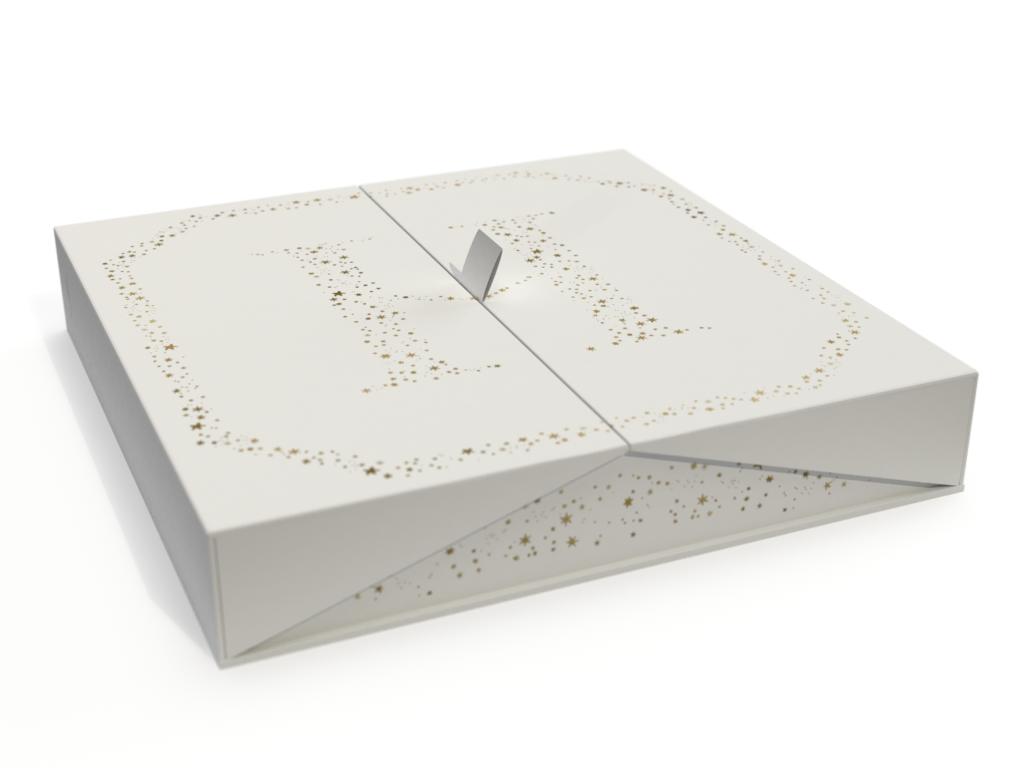 Prévisualisation 3D d'etiquette Hédiard collection Noel 2019