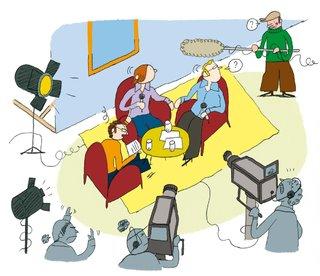 La télévision à petits pas