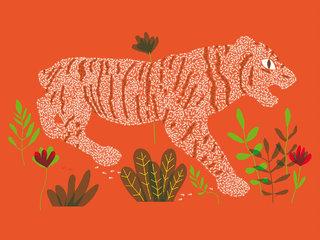 Le tigre a des fourmis dans les jambes