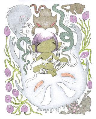 Les pavots violets