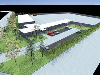 Projet de construction de bureaux, de garages et d€™espace de stockages d€™une entreprise de concassage.