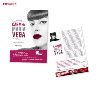 Conception graphique / Biographie Carmen Maria Vega