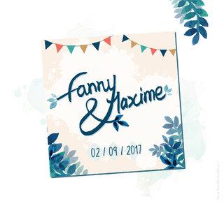 Faire-Part de mariage de Fanny et Maxime