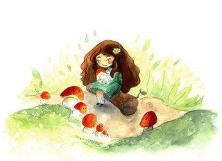 Girl champignons