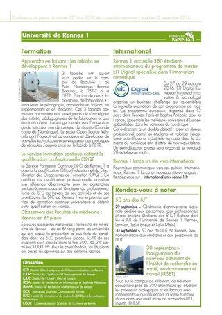 Dossier de presse (extrait) - Université de Rennes 1 2016