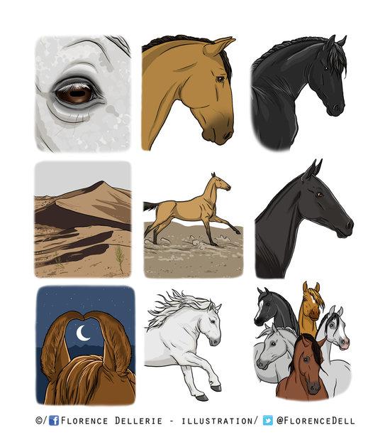 Vignettes chevaux