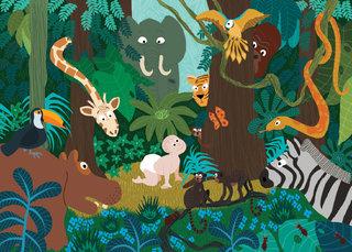 Bébé dans la jungle