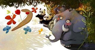 le singe et le leopard (Hachette)