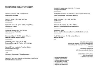 Fleurir Lanester - programme des activités 2017 - mise en page
