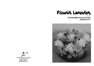 Fleurir Lanester - programme des activités 2017 - mise en page, typographie, logo retravaillé