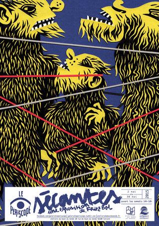 Sécantes au Périscope - mise en page affiche, illustration, typographie