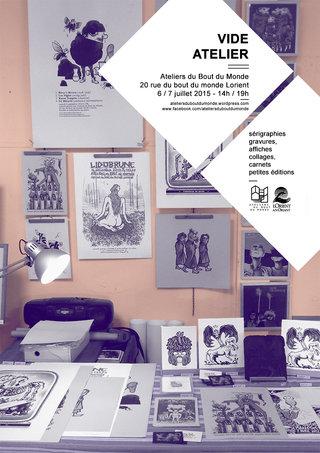 vide atelier - mise en page affiche, photo