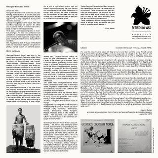 Georges-Edouard Nouel - insert 33 tours face 2 - mise en page