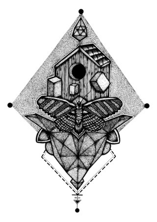 Creepy Home - Tattoo design
