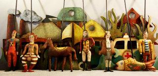décors et marionnettes pour le Petit Théâtre Nomade