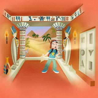 La salle secrète des anciens Egyptiens