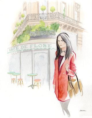Parisienne au Cafe de Flore Paris - Geoffrey Beloeil
