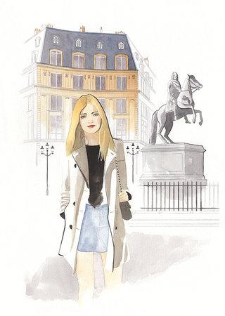 Parisienne à la Place des Victoires Paris - Geoffrey Beloeil