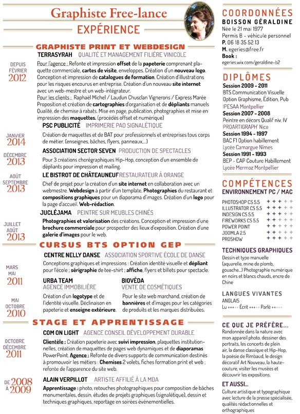 Graphiste freelance à MontpellierNews : CV
