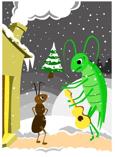 La cigale et la fourmi jean la fontaine la cigale ayant - Dessin de cigale ...