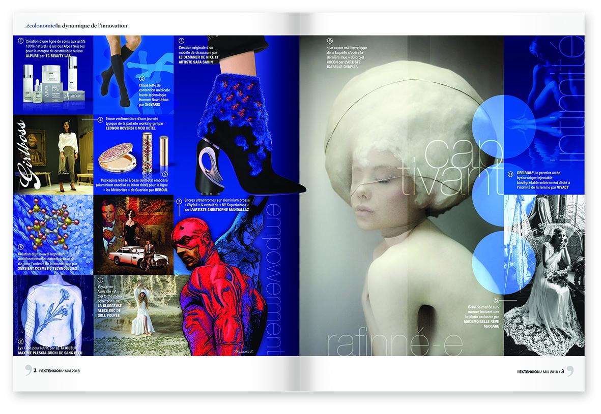 """MIND - magazine L'EXTENSION - Thématique """"GLAMOUR"""""""