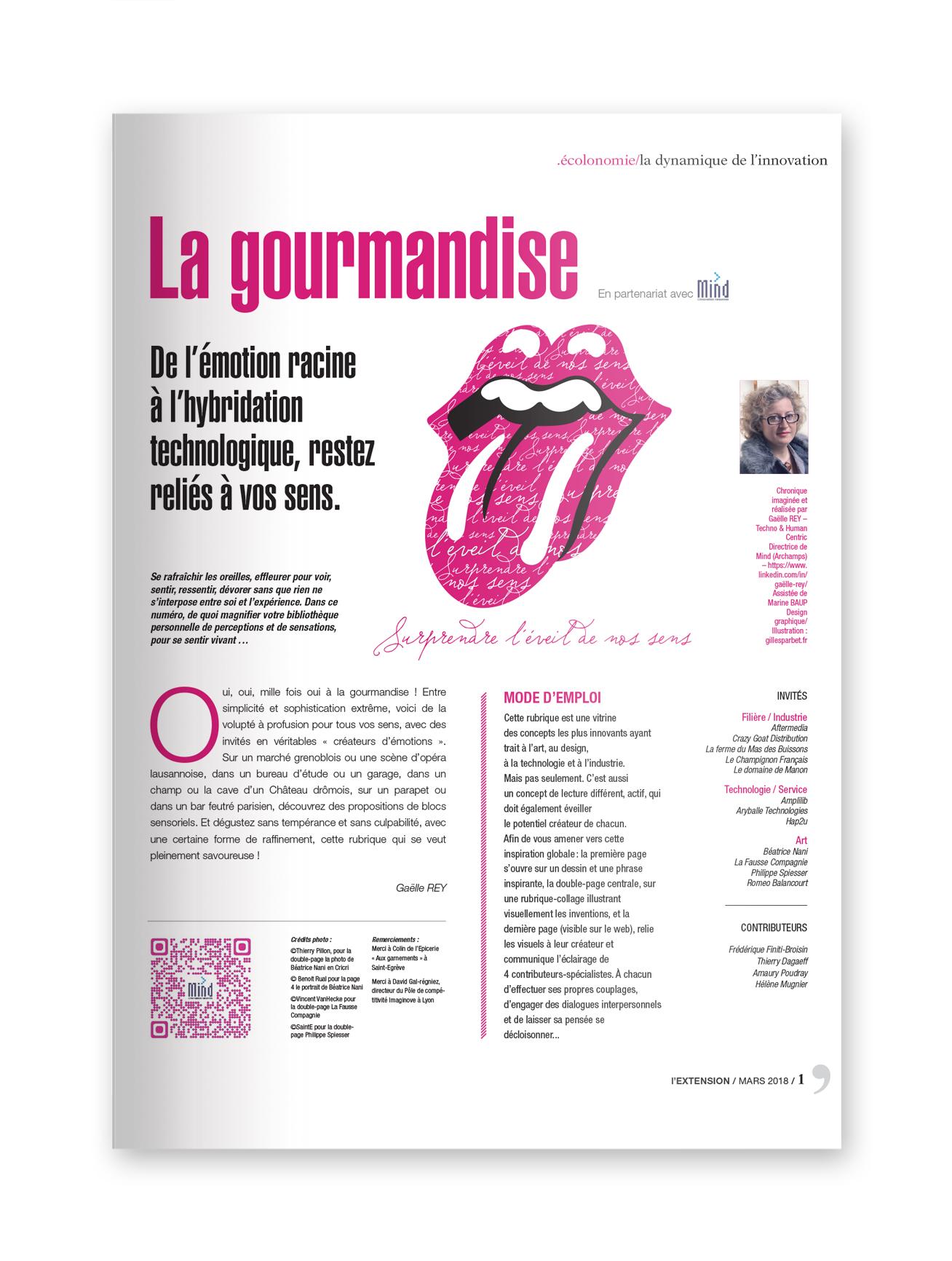 """MIND - magazine L'EXTENSION - Thématique """"GOURMANDISE"""""""