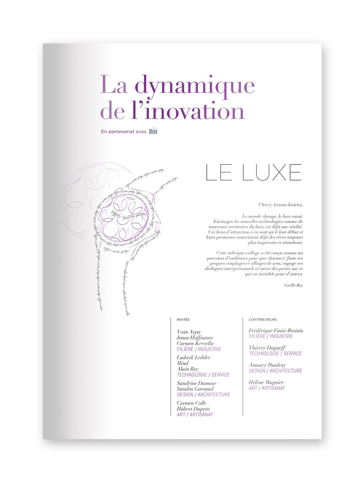 """MIND - magazine L€™EXTENSION - Thématique """"LUXE"""""""