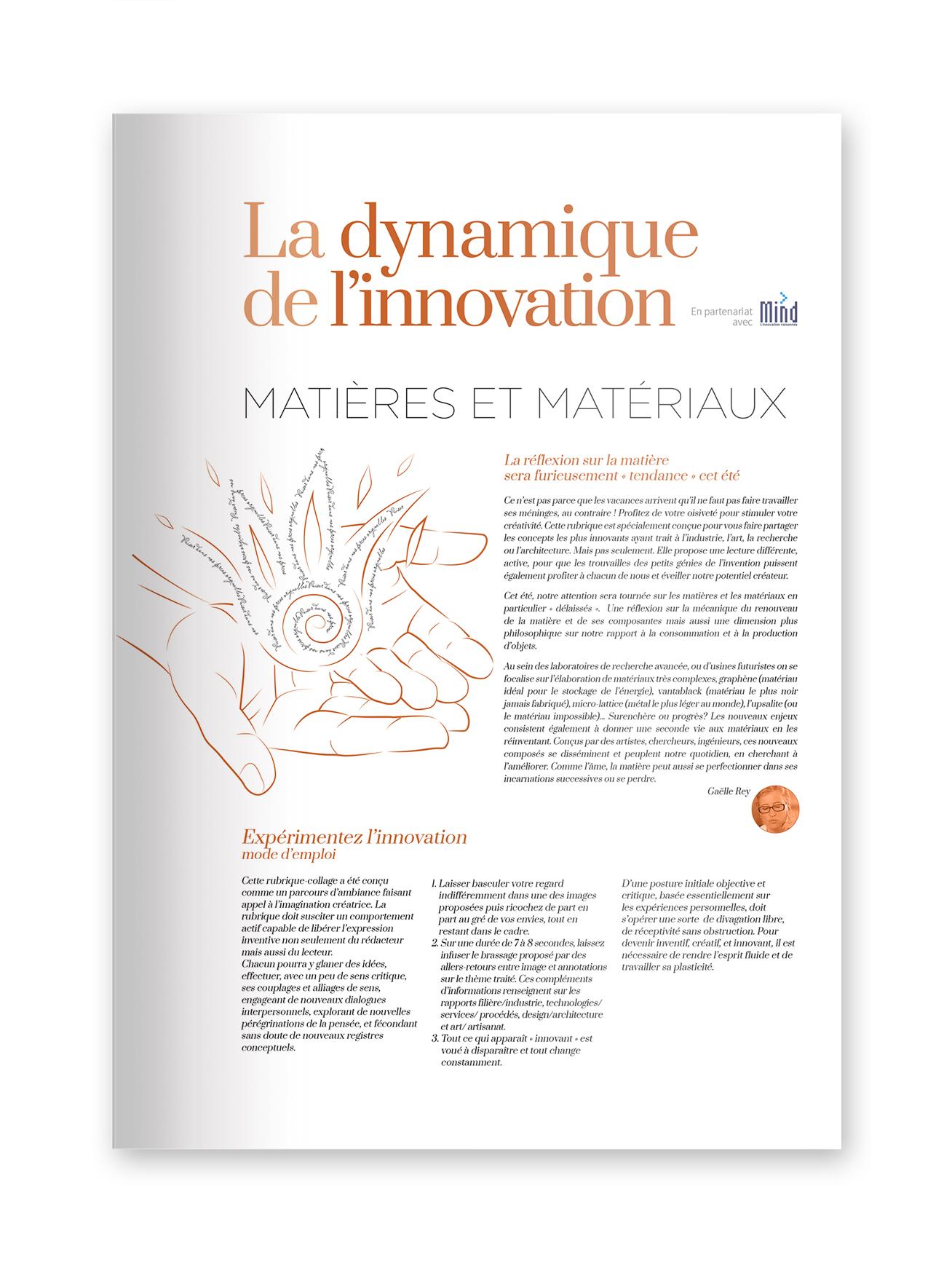 """MIND - magazine L€™EXTENSION - Thématique """"MATIˆRES"""""""
