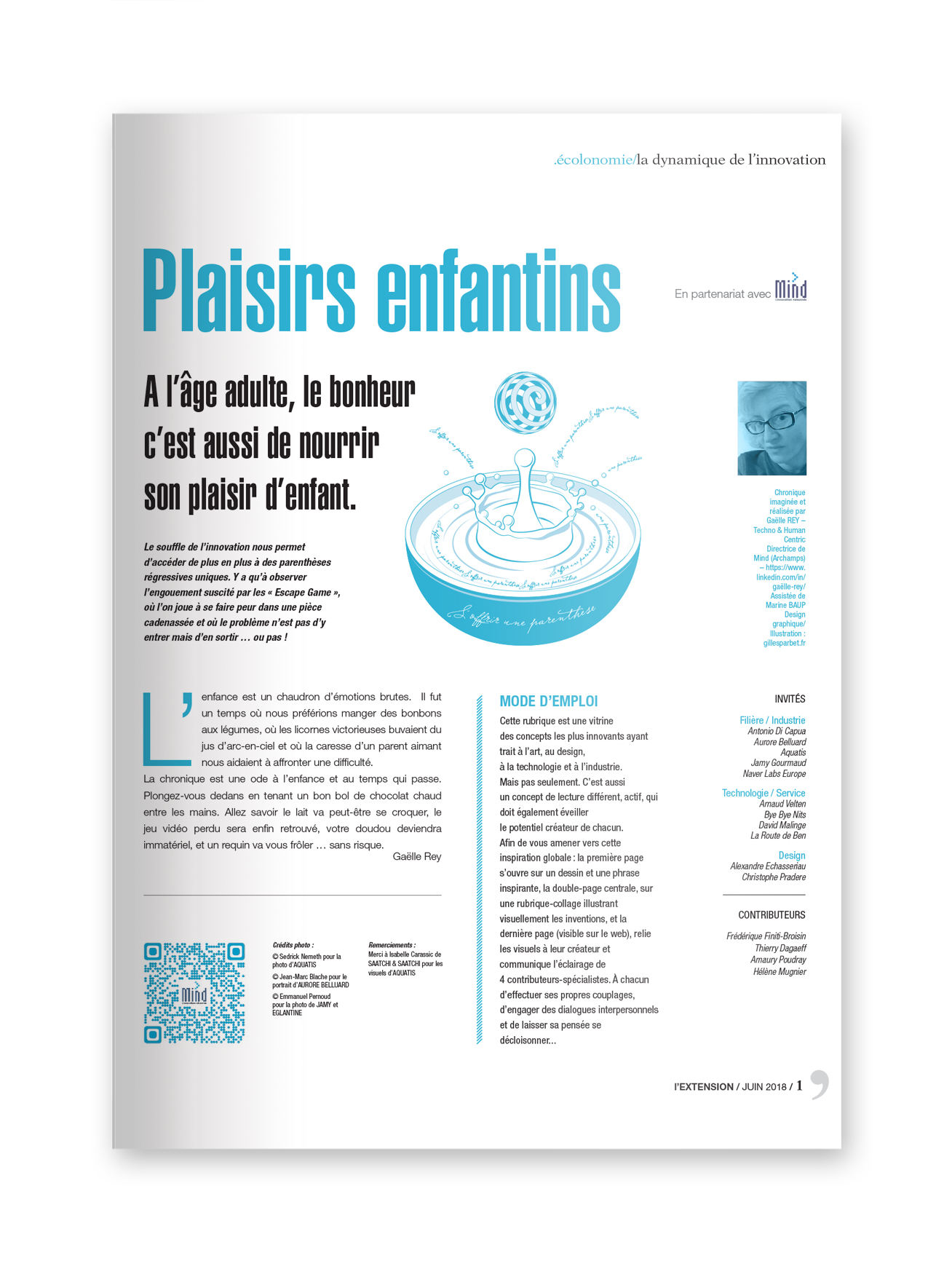 """MIND - magazine L'EXTENSION - Thématique """"PLAISIRS ENFANTINS"""""""