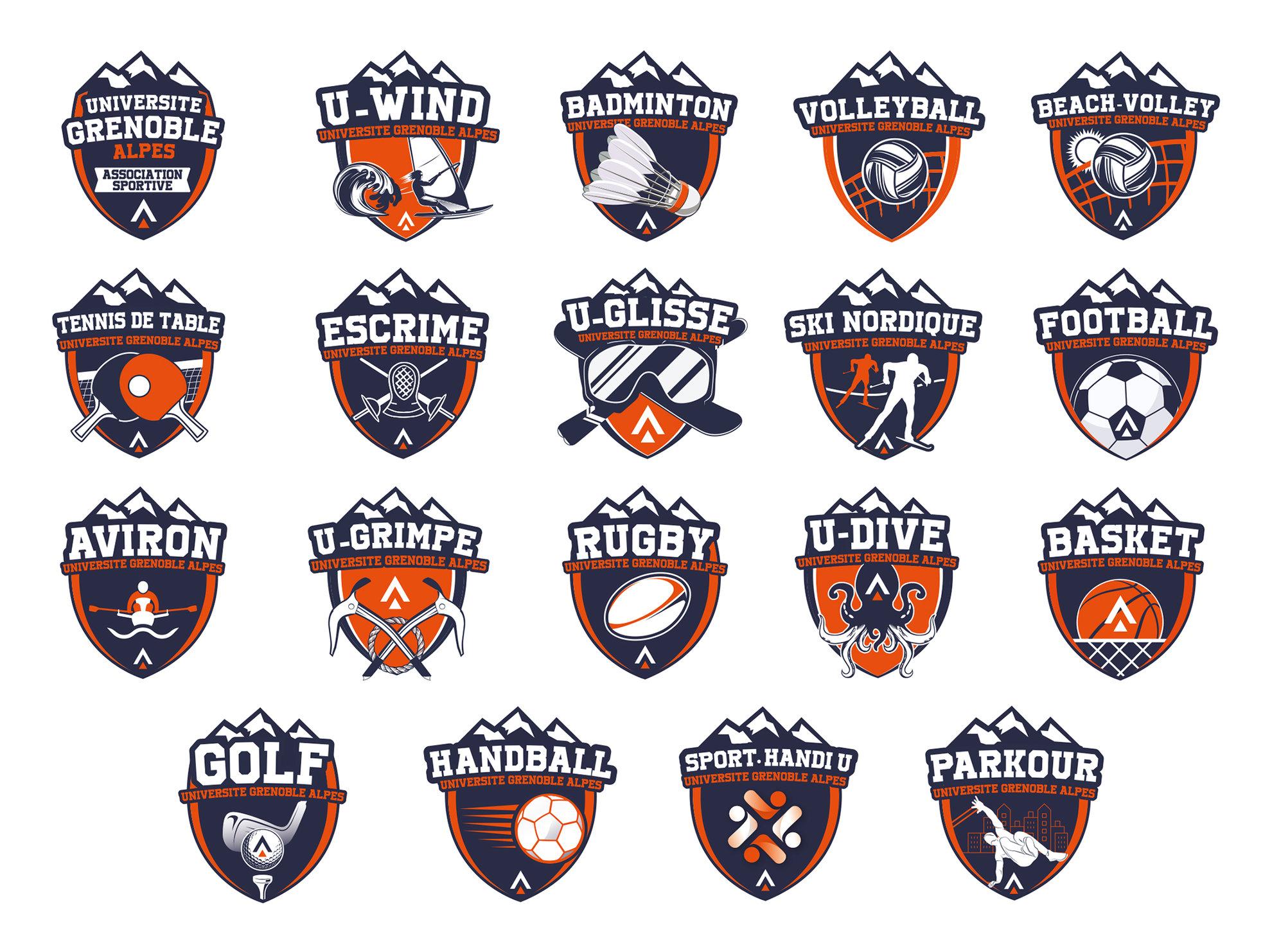 Logos clubs de sport UGA