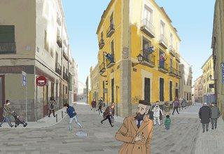 Rue cabeza, Madrid.