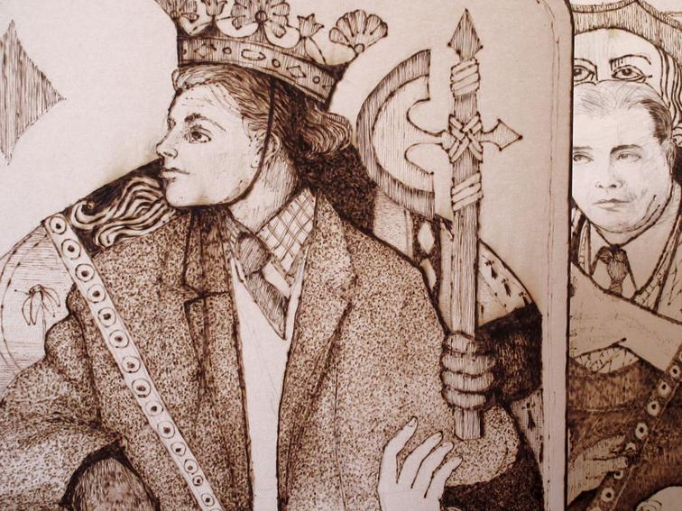 Roi, Valet détail
