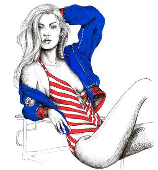Summer in America illustration