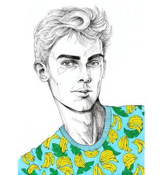 Banana shirt portrait
