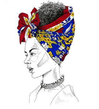 Wax turban illustration