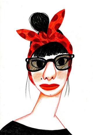 femme-turban-lunettes