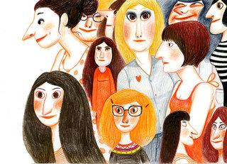 foule de femmes