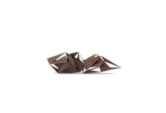 Des illusions. Métal rouillé H 17 L 70 cm
