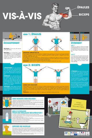 """Affiche """"Vis-à-vis""""-Sport & santé-CDOS 76 & Centre Pénitentiaire de Rouen-2014"""