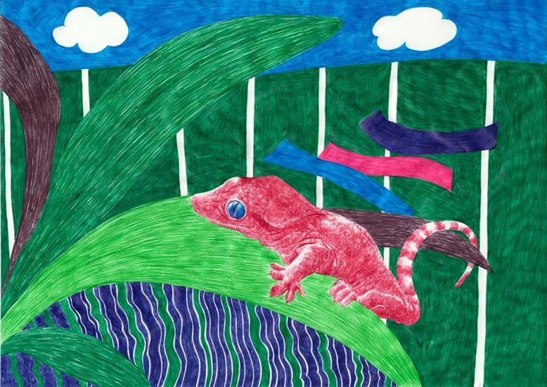 Emza, le petit lézard (détail)