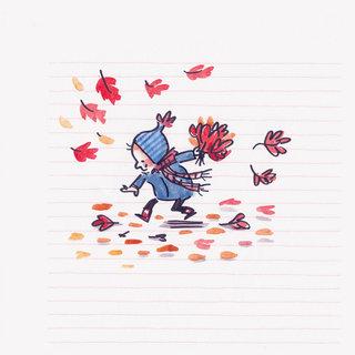 Petit bouquet de feuilles mortes