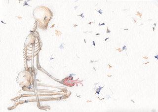 squelette et coeur